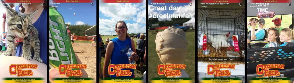 Creelman Fair Agriculture Custom Snapchat Geofilters Saskatchewan