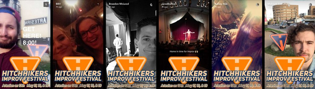 Hitchhikers Improv Custom Snapchat Geofilters Regina Saskatchewan
